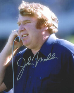 JOHN MADDEN - AUTOGRAPHED SIGNED PHOTOGRAPH