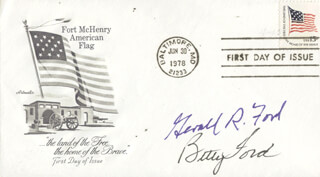 PRESIDENT GERALD R. FORD - FIRST DAY COVER SIGNED CO-SIGNED BY: FIRST LADY BETTY FORD