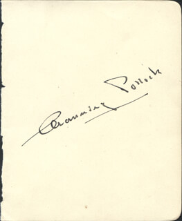 CHANNING POLLOCK - AUTOGRAPH CO-SIGNED BY: SIR OWEN SEAMAN