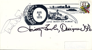 PAUL NEWMAN - COMMEMORATIVE ENVELOPE SIGNED CO-SIGNED BY: LORING FOWLER