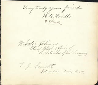 F. D. SEWALL - AUTOGRAPH CO-SIGNED BY: H. C. LOVELL, WEBSTER ELMES, T. J. SMITH