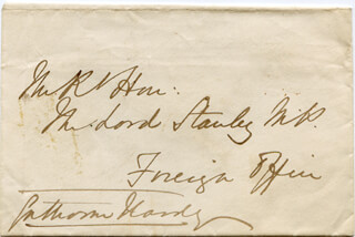 Autographs: EARL OF CRANBROOK (GATHORNE GATHORNE-HARDY) - AUTOGRAPH ENVELOPE SIGNED