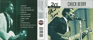 Autographs: CHUCK BERRY - DVD/CD COVER SIGNED
