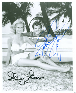 RIDE THE WILD SURF MOVIE CAST - AUTOGRAPHED SIGNED PHOTOGRAPH CO-SIGNED BY: SHELLEY FABARES, FABIAN