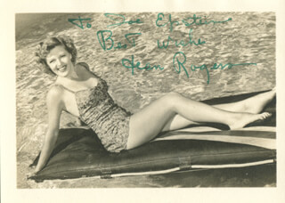 JEAN ROGERS - AUTOGRAPHED INSCRIBED PHOTOGRAPH