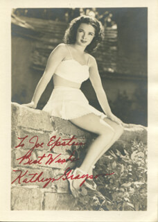 KATHRYN GRAYSON - INSCRIBED POST CARD SIGNED