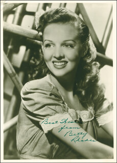 BETTY JANE RHODES - AUTOGRAPHED SIGNED PHOTOGRAPH