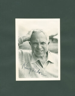 KING VIDOR - AUTOGRAPHED SIGNED PHOTOGRAPH