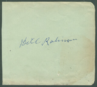 BILL BOJANGLES ROBINSON - AUTOGRAPH CO-SIGNED BY: BONITA GRANVILLE