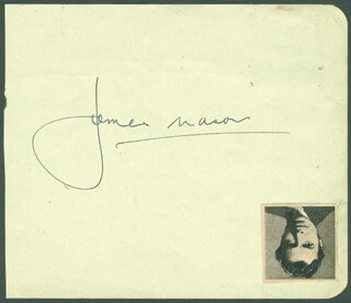 JAMES MASON - AUTOGRAPH CO-SIGNED BY: CLAUDETTE COLBERT