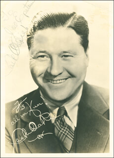 JACK OAKIE - AUTOGRAPHED SIGNED PHOTOGRAPH