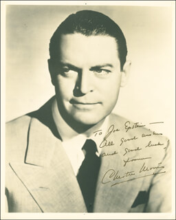 CHESTER MORRIS - AUTOGRAPHED INSCRIBED PHOTOGRAPH