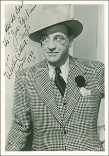 WALTER CATLETT - AUTOGRAPHED INSCRIBED PHOTOGRAPH 1942
