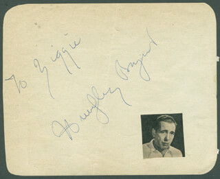 HUMPHREY BOGIE BOGART - INSCRIBED SIGNATURE