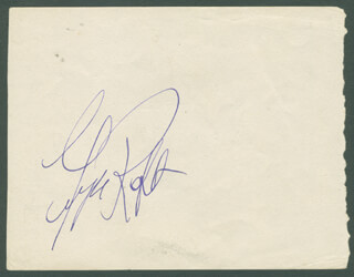 GEORGE RAFT - AUTOGRAPH CO-SIGNED BY: SIR RALPH RICHARDSON