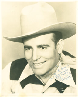BOB WILLS - AUTOGRAPHED INSCRIBED PHOTOGRAPH