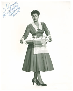 Autographs: PEARL BAILEY - INSCRIBED PHOTOGRAPH SIGNED