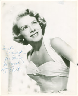 ROSEMARY CLOONEY - AUTOGRAPHED INSCRIBED PHOTOGRAPH