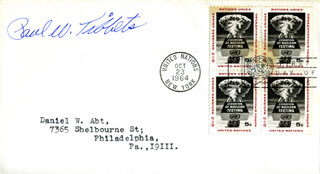 ENOLA GAY CREW (PAUL W. TIBBETS) - FIRST DAY COVER SIGNED