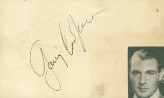 GARY COOPER - AUTOGRAPH  - HFSID 287528