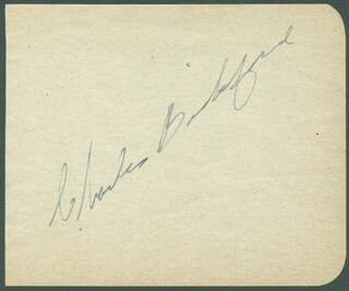 CHARLES BICKFORD - AUTOGRAPH
