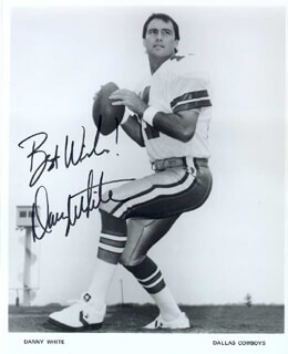 DAN WHITE - AUTOGRAPHED SIGNED PHOTOGRAPH