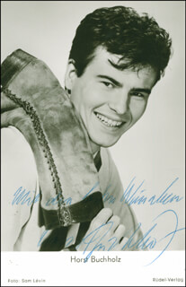 HORST BUCHHOLZ - PICTURE POST CARD SIGNED