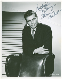 GLENN CORBETT - AUTOGRAPHED INSCRIBED PHOTOGRAPH