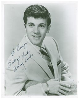 TOMMY SANDS - AUTOGRAPHED INSCRIBED PHOTOGRAPH