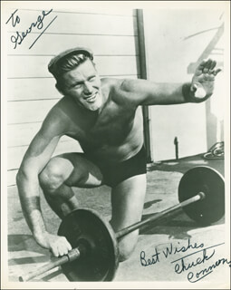 CHUCK CONNORS - AUTOGRAPHED INSCRIBED PHOTOGRAPH
