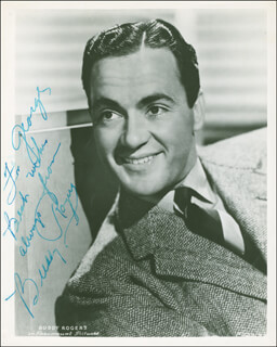 CHARLES BUDDY ROGERS - AUTOGRAPHED INSCRIBED PHOTOGRAPH