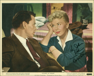 DORIS DAY - INSCRIBED PRINTED PHOTOGRAPH SIGNED IN INK