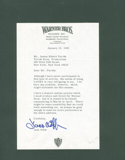 JACK WEBB - TYPED LETTER SIGNED