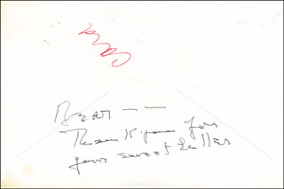 KATHARINE HEPBURN - AUTOGRAPH NOTE SIGNED CIRCA 1988