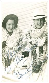 JEANETTE MacDONALD - AUTOGRAPHED SIGNED PHOTOGRAPH CO-SIGNED BY: GENE RAYMOND