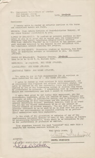 DORTHA DUCKWORTH - CONTRACT SIGNED 10/23/1950