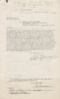 Autographs: LEE BOWMAN - CONTRACT DOUBLE SIGNED 11/13/1950