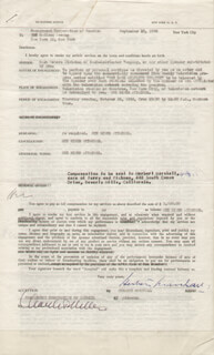 HERBERT MARSHALL - CONTRACT SIGNED 09/19/1950