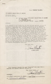 DANE CLARK - CONTRACT SIGNED 10/23/1950