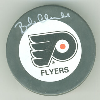 BOB CLARKE - HOCKEY PUCK SIGNED
