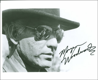 MORGAN WOODWARD - AUTOGRAPHED SIGNED PHOTOGRAPH