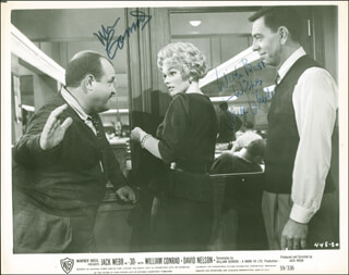 -30- MOVIE CAST - PRINTED PHOTOGRAPH SIGNED IN INK CO-SIGNED BY: JACK WEBB, WILLIAM CONRAD - HFSID 287702
