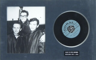 BUDDY HOLLY - RECORD UNSIGNED