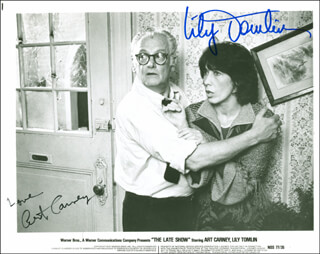 THE LATE SHOW MOVIE CAST - AUTOGRAPHED SIGNED PHOTOGRAPH CO-SIGNED BY: LILY TOMLIN, ART CARNEY