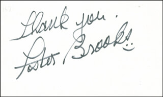 FOSTER BROOKS - AUTOGRAPH SENTIMENT SIGNED