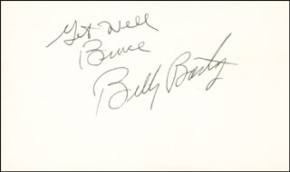 BILLY BARTY - AUTOGRAPH NOTE SIGNED