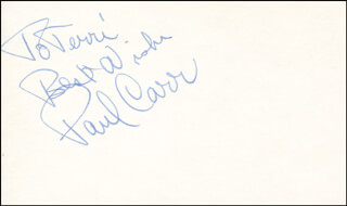 PAUL CARR - AUTOGRAPH NOTE SIGNED