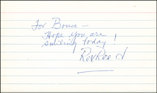 REX REED - AUTOGRAPH NOTE SIGNED