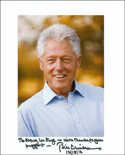 PRESIDENT WILLIAM J. BILL CLINTON - AUTOGRAPHED INSCRIBED PHOTOGRAPH 12/18/2010