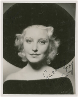 FRANCES DAY - AUTOGRAPHED SIGNED PHOTOGRAPH